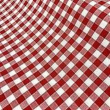 Vichy-Stoff, mittelgroß, Farbe wählbar, für Tischdecken,