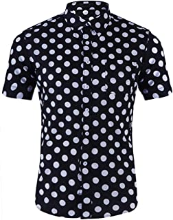Men's Dress Tropical Short Sleeve Beach Party Luau Aloha Hawaiian Shirt