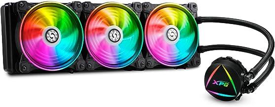 XPG EPS Levante 360 Addressable RGB CPU Liquid Cooler, 360mm Radiator, Three Dual Ring 120mm ARGB Lighting Fans