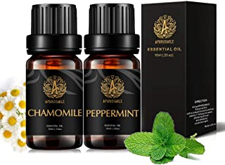 Therapeutic-Grade Aromatherapy Essential Oils Set, Peppermint Chamomile Essential Oils Set, 100% Pure Aromatherapy Essenti...