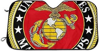 RBGBaac United States Marine Corps Auto Sun Shade Universal Size Windshield Car Truck SUV Sunshade Interior Accessories