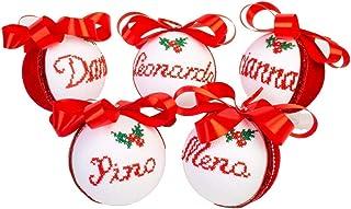 Palline di Natale personalizzate Creamando 5 sfere idea regalo regali personalizzati originali palle natalizie decorazioni...