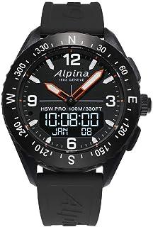 BASHERRY - Caja de acero de 45 mm alpina Alpinerx la goma del reloj de cuarzo Al283Lbb5Aq6 para Hombre
