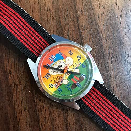 極上 怪物くん 藤子不二雄A Q&Q 手巻き 当時物 アンティーク マンガ 腕時計 コレクターズアイテム デッドストック級