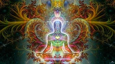Spiritual Tapestry   Meditation Wall Hanging   Love   Open Heart   Heart Chakra   Visionary Art   Heart Soul