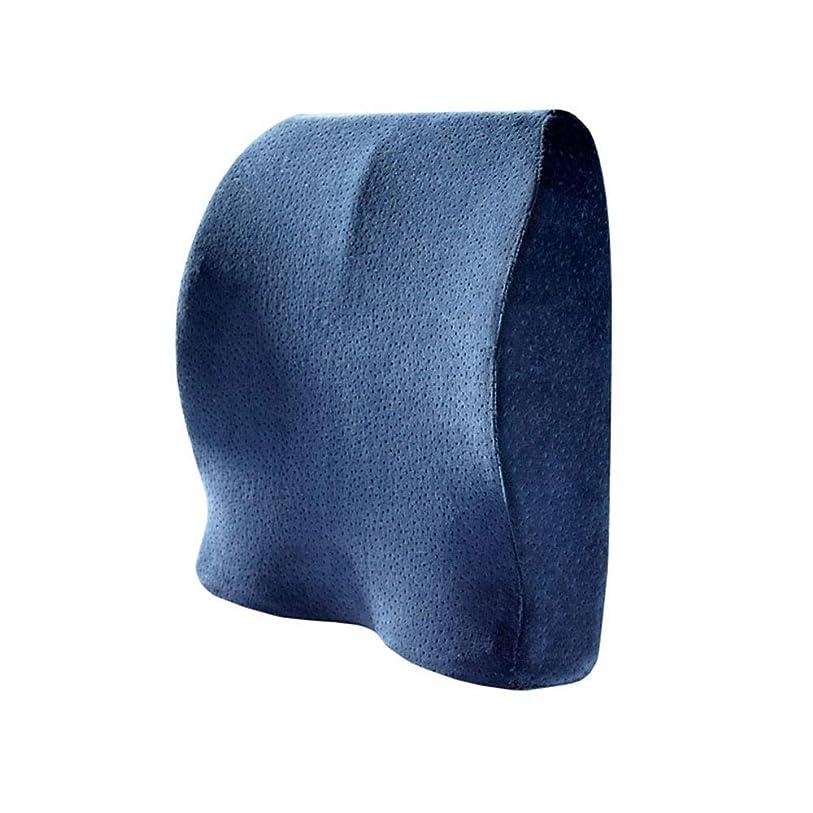 違反する矩形恐れシートクッションコンフォート竹炭低反発整形外科用チェア枕背もたれシートクッションオフィスカー座って旅行旅行運転席クッション 車用 運転用 オフィス用 車椅子用 背中クッション (色 : Memory Foam blue)