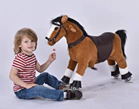 UFREE Horse Action Pony, Walking Horse Toy, Rocking Horse with Wheels Giddy up Ride on for Kids Aged 3 to 6 Years Old