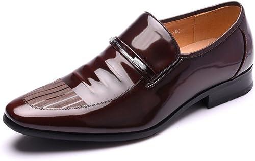 LEDLFIE Chaussures en Cuir pour Hommes Fashion Affaires Suits Chaussures Chaussures en Cuir  pour pas cher