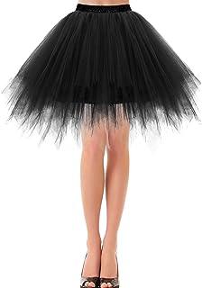 Bbonlinedress Petticoat Tutu Tüllrock Unterrock Rock 50er Vintage Ballet Blase Tanzrock Tanzkleid Ballkleid Kurz Retro