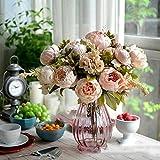 Tiare pour mariage/Festival Fleurs Artificielles Bouquet de Pivoine Rose