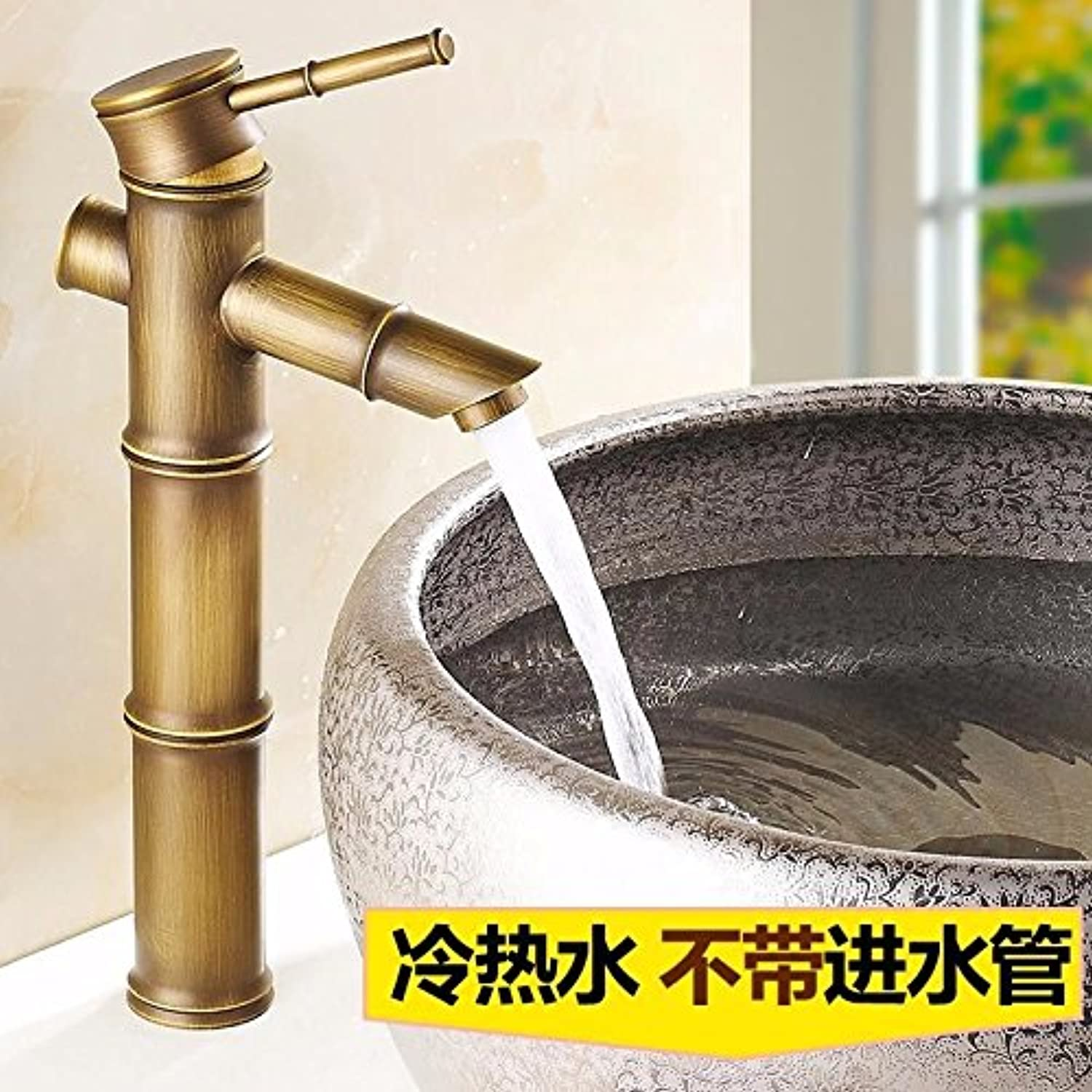 ETERNAL QUALITY Bathroom Sink Basin Tap Brass Mixer Tap Washroom Mixer Faucet Water faucet basin single hole single handle mixer bathroom hot and cold G Kitchen Sink Taps