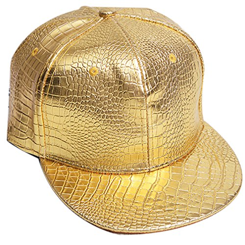 Belsen Damen Winter Vintage Serpentin Baseball Cap Leder Trucker Hat, Gold, Einheitsgröße