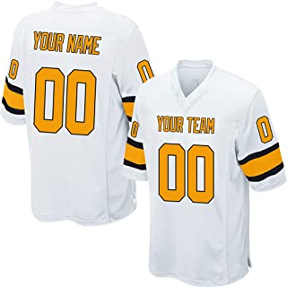 Custom White Mesh Replica Football Game Jersey Embroidered Team Name and Your Numbers