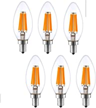 Light Accents Indoor Outdoor Dimmable LED Filament Light Bulb, 6W (40W Equivalent), 600 lumens, 2700K, Warm White, Omnidir...
