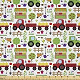 Lunarable Country Fabric by The Yard, Gartenarbeit