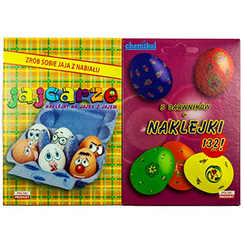 Chemikol Decorating and Coloring Egg Dye Kit with 2 Stickers