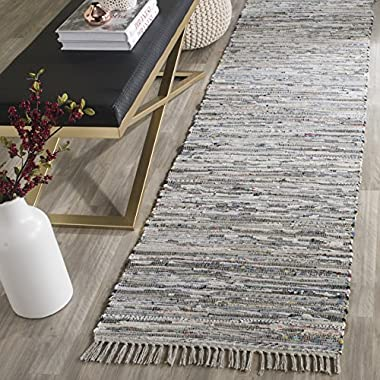 Safavieh Rag Rug Collection RAR121A Hand Woven Grey Cotton Area Rug (2'3  x 5')