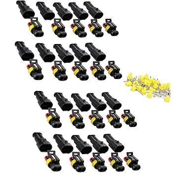 Schnellverbinder f/ür Kfz Motorrad Boat 1//2//3//4 Pin M/ännlich Weiblich Klassifizierung Set TOCYORIC 352Pcs Kabelverbinder Wasserdicht Kabel Steckverbinder Stecker Mit Gebogene Pinzette