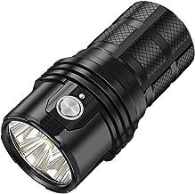 Imagent MS06 Led-zaklamp, krachtig, oplaadbaar, 25000 lumen, 6 CREE 2 XHP70, 3 x 21700, 4000 mAh, USB type C, oplaadbare b...