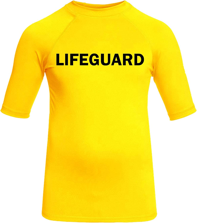 eBodyboarding Lifeguard Rash Guard Short Sleeve | Mens Rashguard | Beach Shirt UV Protection