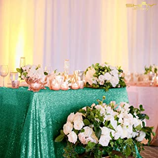 silver sequin overlay tablecloth