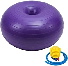 HROYL Donut Stability Exercise Ball Yoga Balls for Yoga, Birthing,Pilates and Balance Training in Gym, Office or Classroom