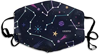 星座の壁紙 ポリエステルマスク繊維通気性アウトドアファッション愛抗菌消臭風邪花粉症調節可能再利用可能ユニセックス