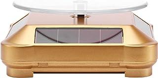 Walory Plataforma giratoria con Soporte de Pantalla Solar,Soporte de exhibición Solar Soporte de exhibición Giratorio de 3...