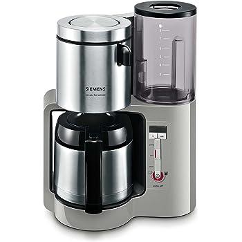 Siemens TC86505 - Cafetera con jarra térmica de acero inoxidable (1100 W, 8/12 tazas), color plateado: Siemens: Amazon.es: Hogar