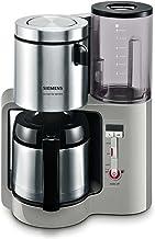 Siemens TC86505 Koffiezetapparaat (1100 Watt max, 8/12 kopjes, roestvrijstalen thermokan) urban grijs