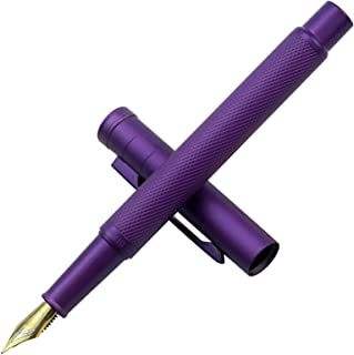 Hongdian Purple Forest Fountain Pen Extra Fine Nib Classic Design with Converter and..