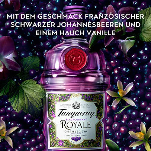 Tanqueray Blackcurrant Royale Distilled Gin – Ideale Spirituose für Cocktails oder Gin Tonic – 1 x 0,7l - 4