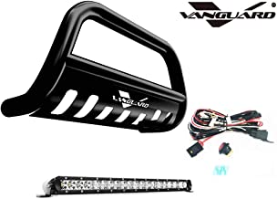 VANGUARD Off Road VGUBG-1304-1157BK-20LED for 2014 2019 Subaru Outback Bumper Guard Black Bull Bar with Skid Plate and 20 inch Light Bar