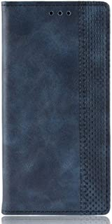 for FUJITSU Arrows J PU Leather Protection Cover Card Slots Wallet Flip Case (Blue)