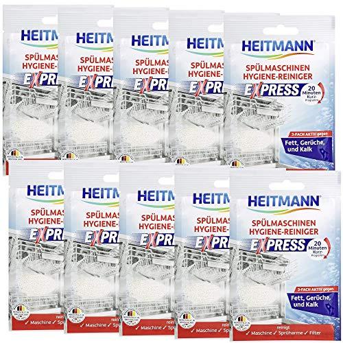 HEITMANN Express Spülmaschinen Reiniger 30g: Reiniger für Geschirr, 3fach aktiv gegen Fett, Kalk, Gerüche, wirkt schon im Kurzprogramm, spart Zeit, Energie und Kosten, 30x30g