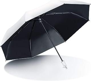 折りたたみ傘 AISITIN 日傘 折り畳み日傘 手動開閉 折りたたみ傘 UVカット 遮光率100% 8本骨 超軽量 レデイーズ 折りたたみ傘 遮熱 遮光 日焼け防止 耐風撥水 晴雨兼用 傘 収納ポーチ付き 携帯しやすい ホワイト