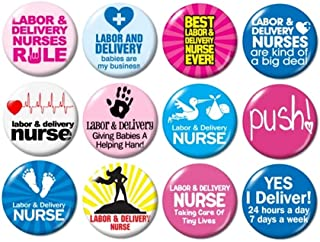 Labor and Delivery Nurse Buttons Pins