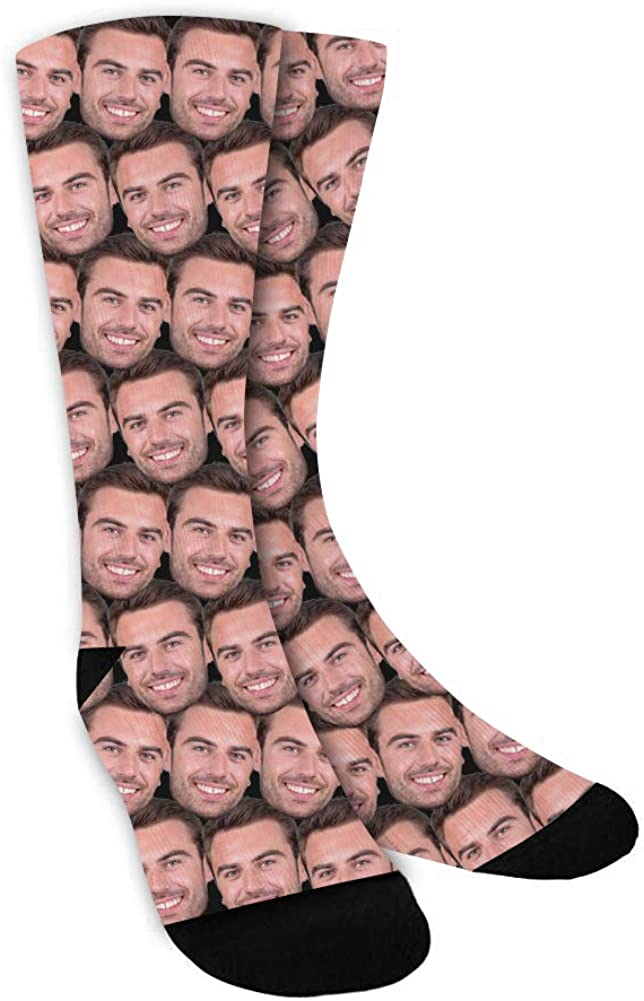 Custom Socks Excellent with Faces Face Lowest price challenge Text Personalized