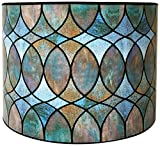Royal Designs Modern Trendy Decorative Handmade Lamp Shade - Made in USA - Cool Hues Water Color Design - 10 x...