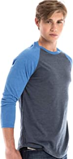 Men's Raglan Long Sleeve Cotton Baseball Tee 3/4 Sleeve Casual Athletic Performance Jersey Shirt for Men and Women