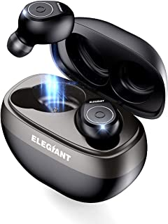 True Wireless Earbuds, ELEGIANT Bluetooth 5.0 TWS Headphones Earbuds with 35H Playtime 3D Stereo Sound, True Wireless Earbuds Auto Pairing Wireless Earphones Bluetooth Headset with Charging Case