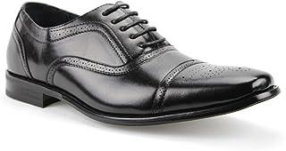 Delli Aldo Men's 19006 Black Classic Wingtips Dress Oxfords Shoes