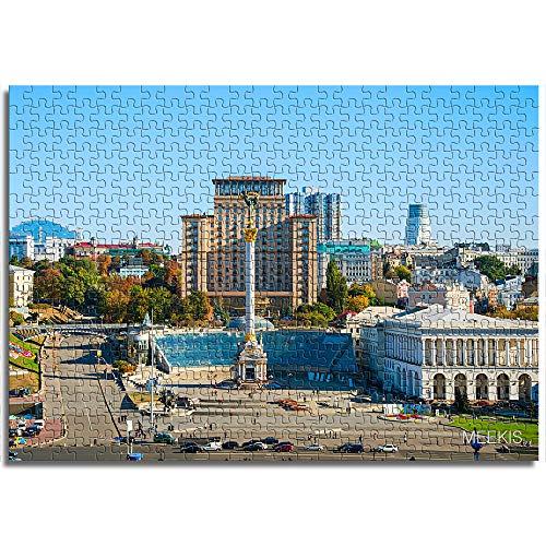 LLLTONG Rompecabezas para Adultos 1000 Piezas Juegos Educativos de la Iglesia de Kiev Sofía, Rompecabezas para Niños