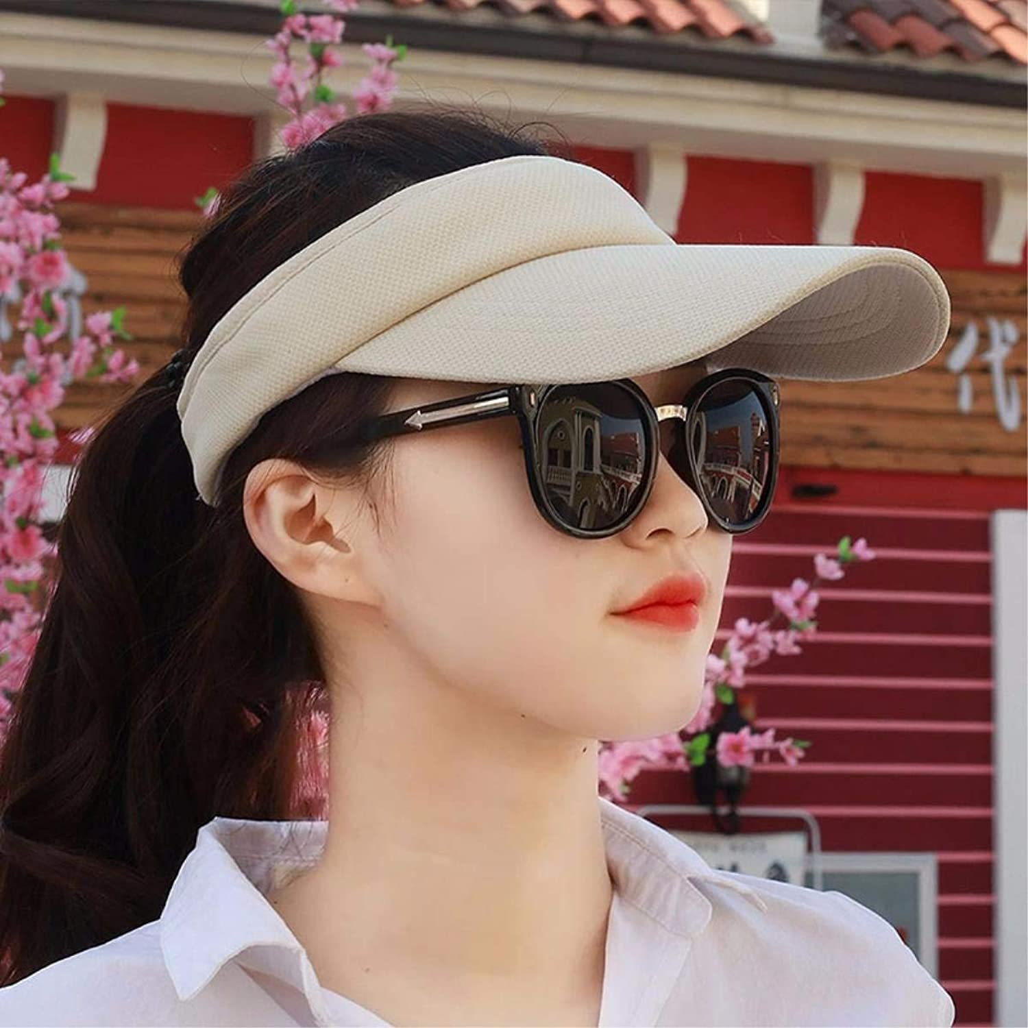 Chuiqingnet Hat female summer empty top hat sun hat cap Great for outdoor sports visor cap beach cap a cap