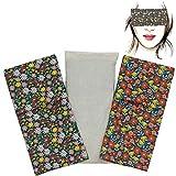 Almohada para los ojos'Pack Duo Flua' (1 relleno y 2 fundas lavables) | Semillas de Lavanda y...