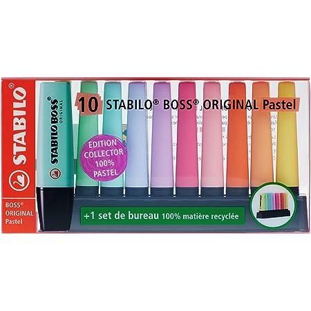 Surligneur - STABILO BOSS ORIGINAL - Set de bureau x 10 surligneurs pastel