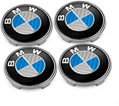 BMW Wheel Center Caps Set of 4 Emblem, 68mm BMW Rim Center Hub Caps for All Models with BMW Wheels Logo Blue & White Color