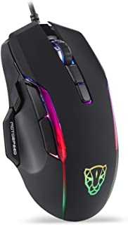 Motospeed USB Wired Gaming Mouse,400 to 6400 DPI 6400 Optical Sensor,Chorma RGB Backlit,9 Programmable Buttons,Ergonomic P...
