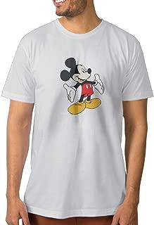 ShenigonCartoon Mickey Mouse Mens Cool Short Sleeve Tee White