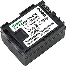 Kastar BP-808 Li-Ion Rechargeable Intelligent Battery for Canon FS10 FS11 FS100 FS21 FS22 FS200 FS31 FS300 VIXIA HF10 HF11 HF100 HF20 HF200 HF S10 S100 S20 S21 S200 HG20 HG21 M30 M31 M300 Camcorders